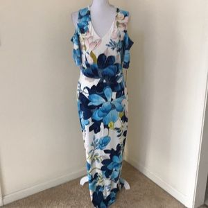 NWT! Rachel Rachel Roy Large blue combo maxi dress